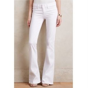 Anthro Paige Canyon Flare White Jeans Size 25
